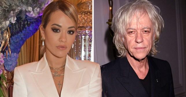 Rita Ora and Bob Geldof create coronavirus emblem