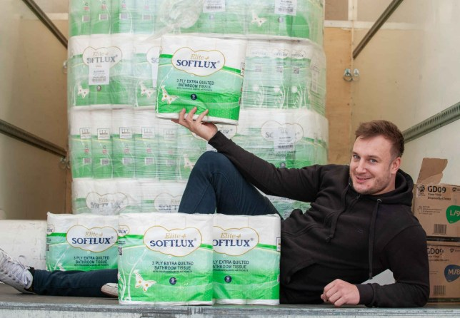 Savvy Lee Marshall has been slammed for cashing in on the Coronavirus panic after he made ??3,000 in two hours selling premium toilet paper out of his van. TRIANGLE NEWS 0203 176 5581 // contact@trianglenews.co.uk By Phoebe Eckersley A WHEELER dealer has been slammed for cashing in on the Coronavirus panic after he made ??3,000 in two hours selling premium toilet paper out of his van on the side of the road. Lee Marshall parked in a layby and sold 600 cases of 45 rolls for ??15 each. He bought the premium bog roll from a wholesaler and went on to sell all of them - raking in thousands of pounds in profit between him and his two friends.