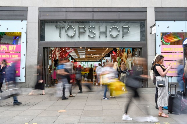 Mandatory Credit: Photo by Stephen Chung/LNP/REX (10252883c) Shoppers pass by outside the Topshop store on Oxford Circus. Flagship Miss Selfridge store to close, London, UK - 28 May 2019 Sir Philip Green's Arcadia Group is to close the store in July 2019 and move it to a concession in the adjacent Topshop. Arcadia Group, which also includes Topshop, Wallis, Dorothy Perkins, Evans and Burton, will seek approval from creditors for a company voluntary arrangement (CVA), enabling store closures and rent cuts..