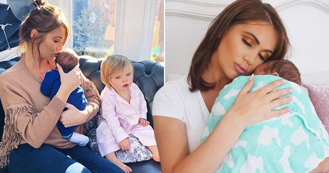 Amy Childs reveals son's name after keeping it secret for two years