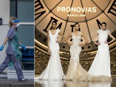 Luxury bridal store to donate free wedding dresses to hospital staff treating coronavirus