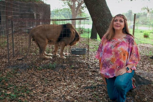 Carole Baskin from the Tiger King netflix documentary