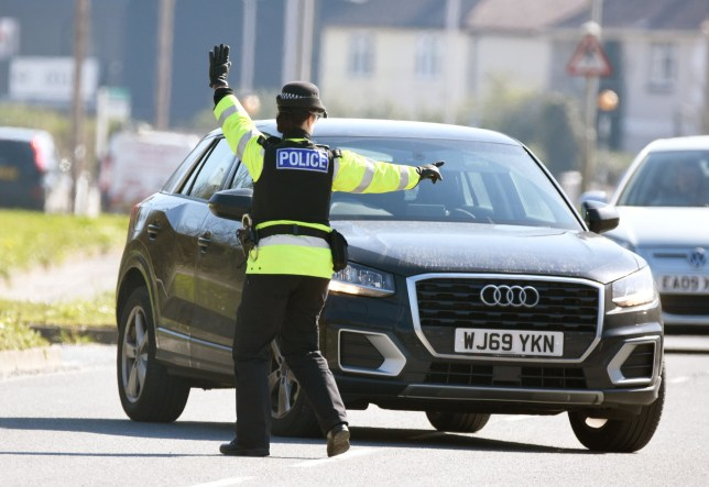 Police Corona Virus Road checks in Plymouth today. Pix by Wayne Perry - 07801289134 26/3/20