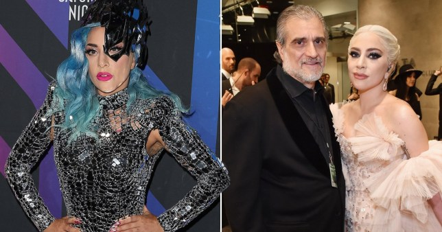 Lady Gaga pictured with her dad Joe Germanotta