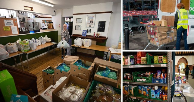 First government food parcels delivered to the vulnerable (Picture: Getty, AFP, Rex)