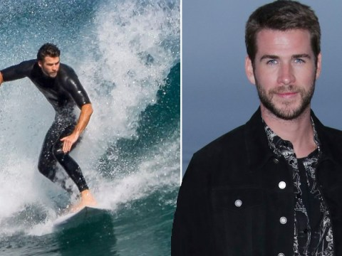Liam Hemsworth is a surfing pro as he takes his mind off coronavirus social-distancing rules