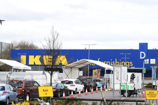 Ikea's store in Wembley, north London, will be converted into a drive-through testing centre for NHS staff