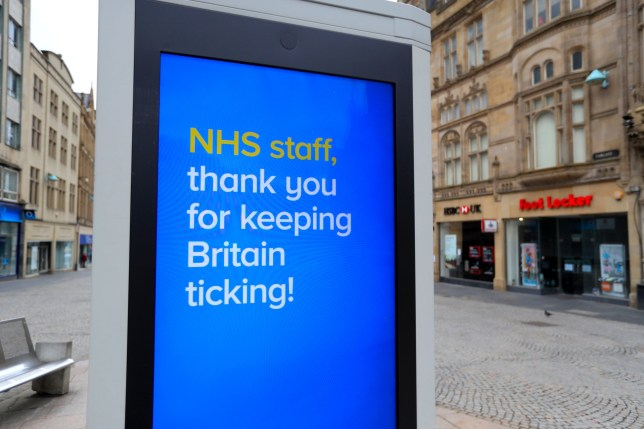 signs thanking the nhs in sheffield