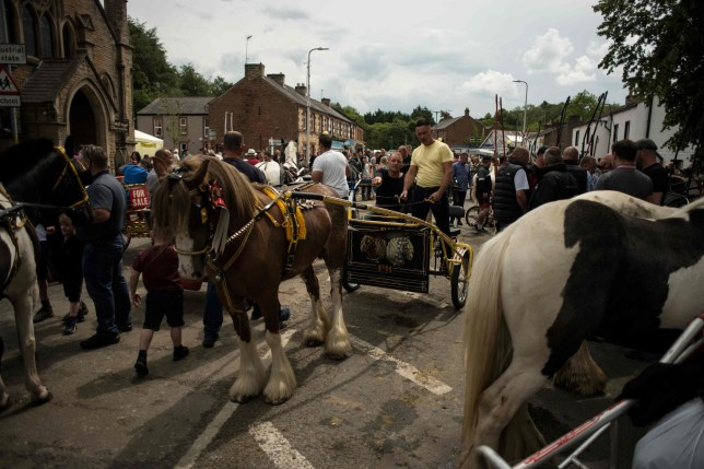 Visitors at the Appleby Horse Fair 2019