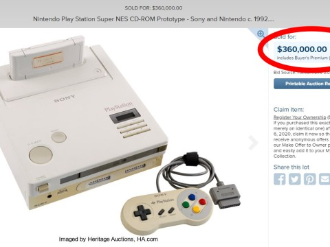 Nintendo PlayStation, world's rarest console,  sells at auction for 'only' £276,900