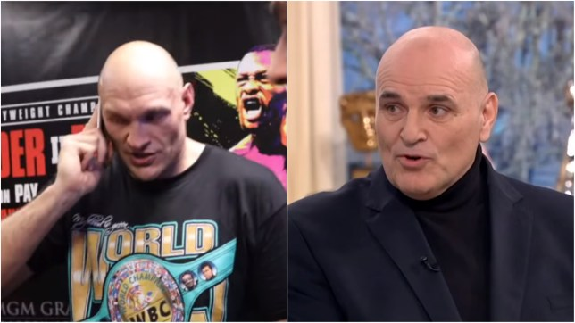 Tyson Fury shared an emotional phone call with his dad after beating Deontay Wilder