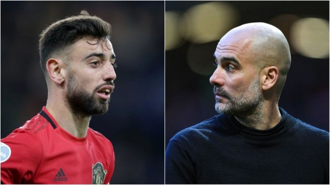 Bruno Fernandes clashed with Pep Guardiola during the Manchester derby