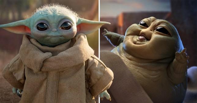 Baby Yoda and Baby Jabba