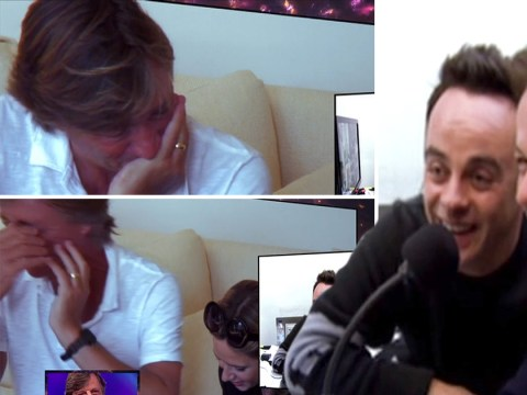 Richard Madeley struggles to hold it together during Ant and Dec's Saturday Night Takeaway prank