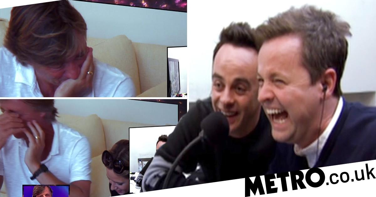 Richard Madeley struggles to hold it together during Ant and Dec prank
