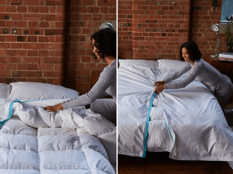 New duvet cover that opens in the middle will make changing bedding much easier