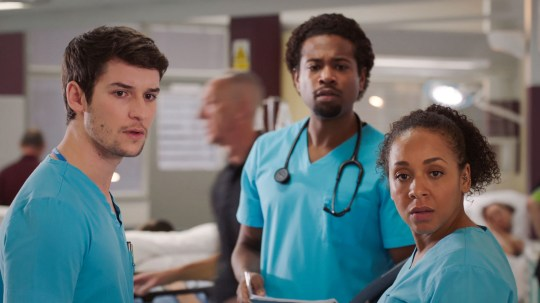 Nicky and Cameron in Holby City