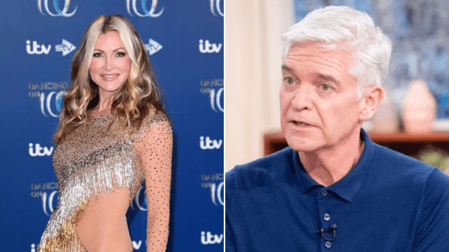 Dancing on Ice Caprice Bourret claims she already knew Phillip Schofield was gay (Picture: ITV)