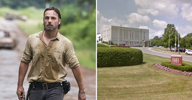 The Walking Dead Rick Grimes and Kentucky's Harrison Memorial Hospital