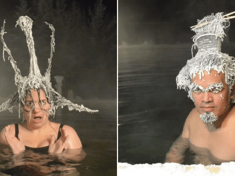Please enjoy the most eye-catching pictures from the frozen hairstyle contest