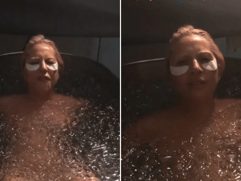 Lady Gaga squirms and swears in freezing ice bath in behind-the-scenes look at Stupid Love video shoot
