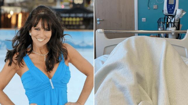 Linda Lusardi in hospital