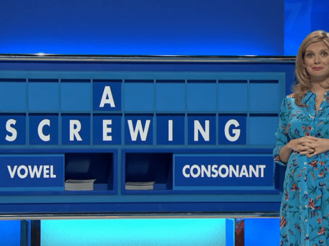 Rachel Riley left red-faced after spelling out cheeky word on Countdown