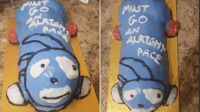 Surprising Woman Makes Sonic Birthday Cake But People Think It Looks Like A Funny Birthday Cards Online Eattedamsfinfo