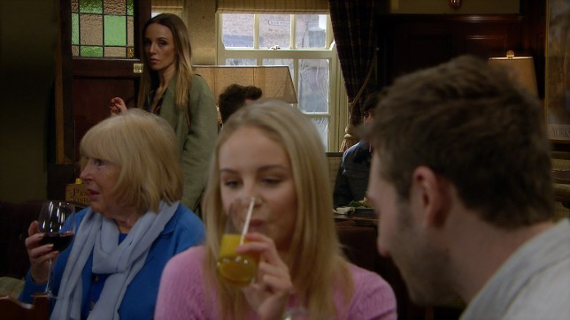 Andrea, Belle and Jamie in Emmerdale