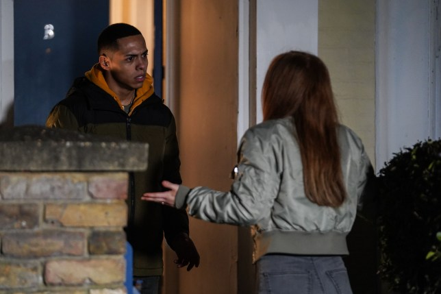 Keegan and Tiffany are homeless in EastEnders