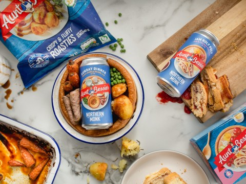 Aunt Bessie's teams up with Northern Monk brewery to launch roast dinner and jam roly poly flavour beers