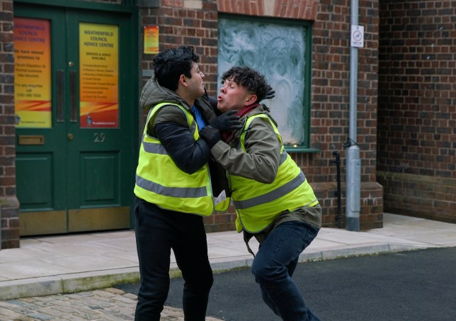 Coronation Street fight