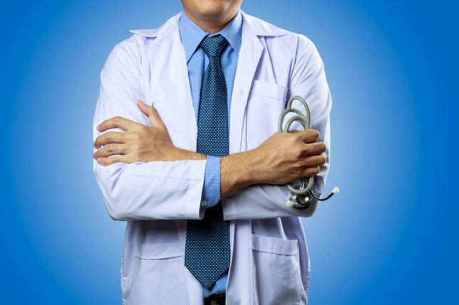 Image of a doctor holding a stethoscope