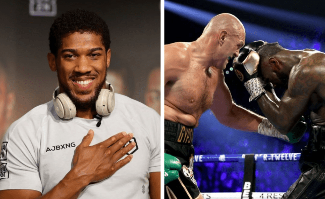 Heavyweight boxers Anthony Joshua, Tyson Fury and Deontay Wilder