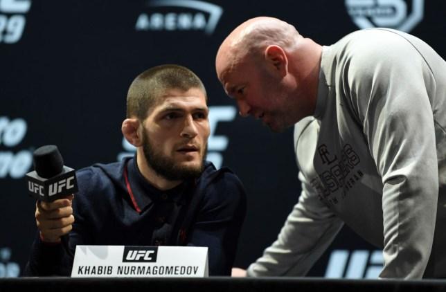 Khabib Nurmagomedov and UFC president Dana White