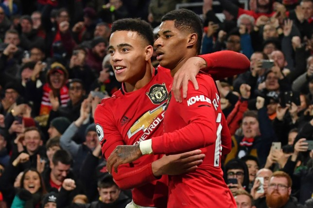 Mason Greenwood [left] has impressed in his first senior campaign (Picture: Getty)