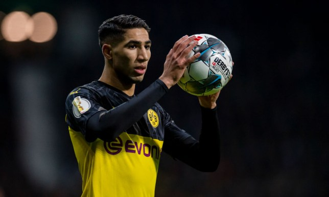 Real Madrid's Achraf Hakimi has impressed on loan at Borussia Dortmund