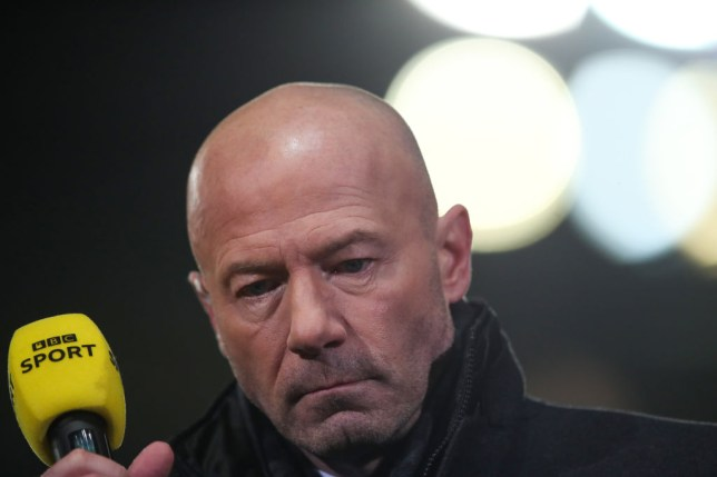 OXFORD, ENGLAND - FEBRUARY 04:  Former Newcastle United striker Alan Shearer working as a BBC TV pundit during the FA Cup Fourth Round Replay match between Oxford United and Newcastle United at Kassam Stadium on February 4, 2020 in Oxford, England. (Photo by Marc Atkins/Getty Images)