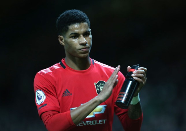 MANCHESTER, ENGLAND - JANUARY 11: Marcus Rashford of Manchester United walks off after being substituted during the Premier League match between Manchester United and Norwich City at Old Trafford on January 11, 2020 in Manchester, United Kingdom. (Photo by Tom Purslow/Manchester United via Getty Images)