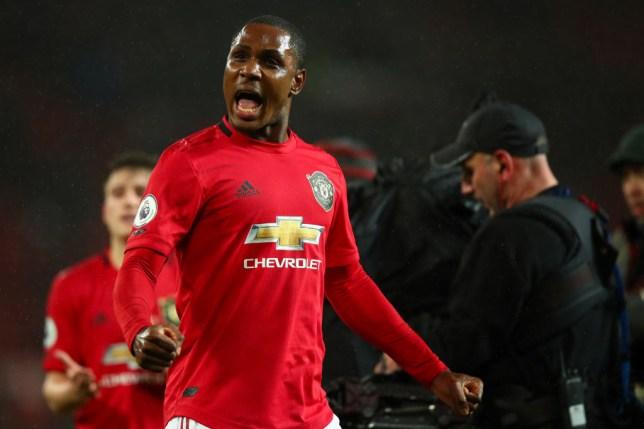 Odion Ighalo celebrates scoring goal for Manchester United
