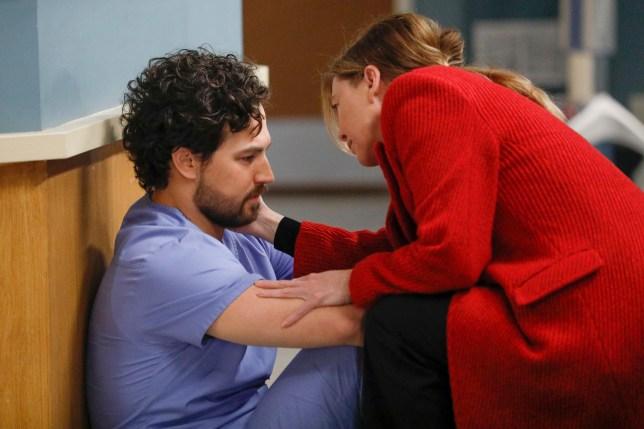 Grey's Anatomy Andrew DeLuca and Meredith Grey