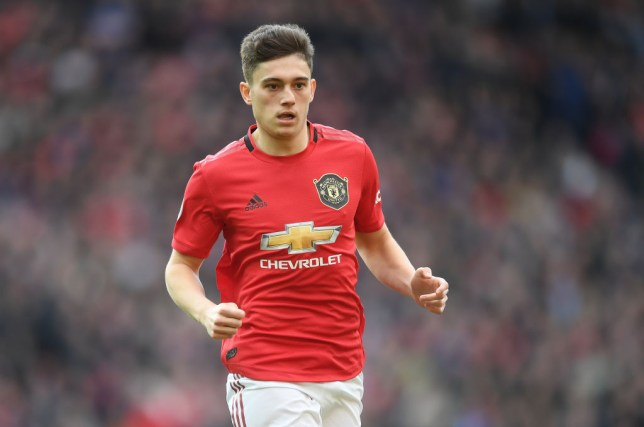 Daniel James during Manchester United's Premier League clash with Manchester City