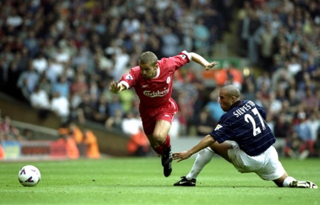 Mickael Silvestre made his Man Utd debut at Anfield just days after snubbing a move to Liverpool