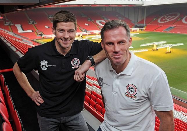 Liverpool legends Steven Gerrard and Jamie Carragher