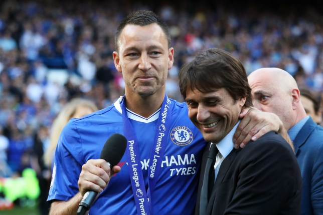 John Terry and Antonio Conte