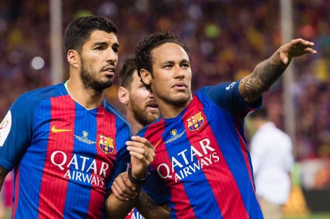 Barcelona star Luis Suarez and Neymar