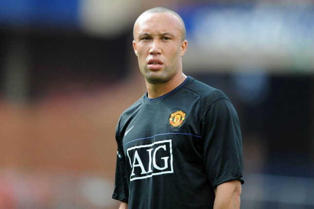 PRETORIA, SOUTH AFRICA - JULY 25: Mikael Silvestre in action during the Manchester United training session held at Loftus Versfeld Stadium on July 25, 2008 in Pretoria, South Africa. (Photo by Lee Warren/Gallo Images/Getty Images)