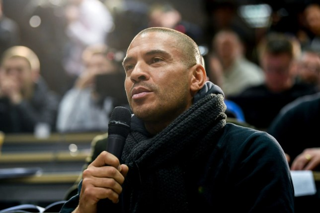 Dublin , Ireland - 13 November 2017; Former England international Stan Collymore, now working as journalist for RT, asks a question during a Republic of Ireland press conference at the FAI National Training Centre in Abbotstown, Dublin. (Photo By Stephen McCarthy/Sportsfile via Getty Images)