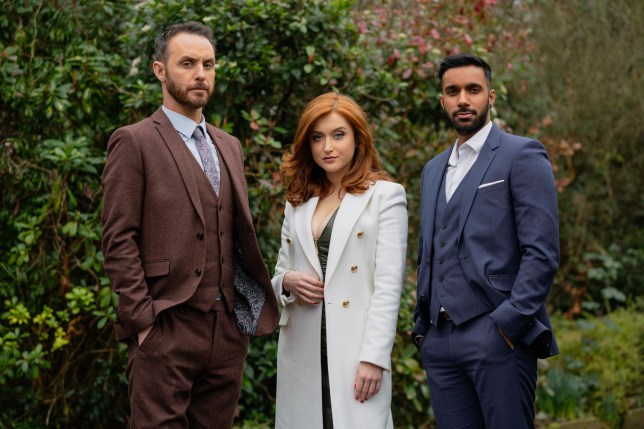 Verity, Sami and James in Hollyoaks
