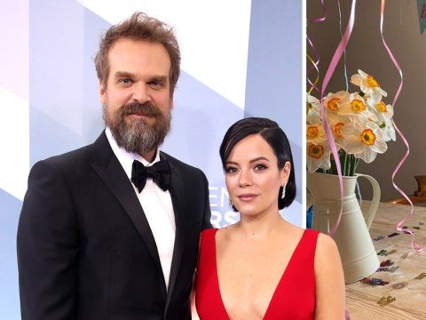 Lily Allen puts on cute isolation birthday party for David Harbour as he turns 45 in lockdown